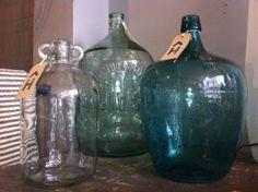 I want to find vintage bottles Big Glass Jars, Large Glass Bottle, Bottles And Jars, Glass Bottles, Vintage Bottles, Humble Abode, Glass Art, Anna, Arts And Crafts