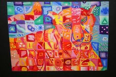 Rotation 3 - Grade - Chuck Close Love the use of warm/cool colors. Could do as a group mural of school mascot. Art Club Projects, Middle School Art Projects, School Projects, Kids Art Class, Art Lessons For Kids, Chuck Close Art, Color Art Lessons, 7th Grade Art, Collaborative Art Projects