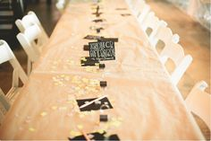 kraft paper covered tables