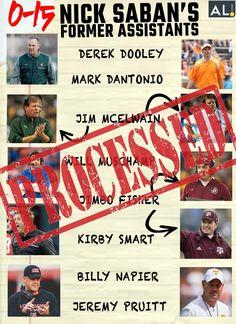 Saban is the MAN!!! Roll Tide!! Alabama Football, College Football, Football Stuff, Championship Football, National Championship, Kirby Smart, Nick Saban, Alabama Crimson Tide