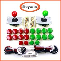 Arcade Joystick DIY Kit Zero Delay USB Controller PC to Arcade Joystick + Push Buttons + Wire Harness for MAME & Raspberry Pi 3B