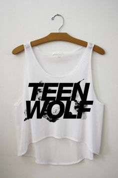 Teen Wolf Logo Crop Top Tank Shirt, Stiles, Scott, Lydia, Isaac
