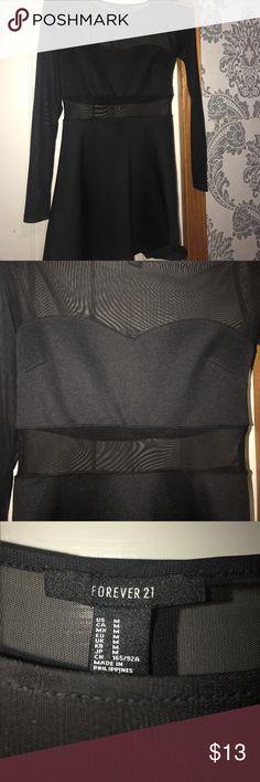Mesh black dress Forever 21 Forever 21 mesh black skater dress Forever 21 Dresses