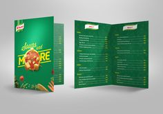 17 best booklet menu card images booklet lunch chart menu cards