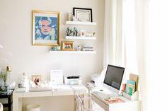 Trendy home office desk organization apartment therapy Home Office Furniture Design, Home Office Desks, Cool Furniture, Office Spaces, Office Desk Organization, San Diego Houses, Desk With Drawers, Trendy Home, Apartment Therapy