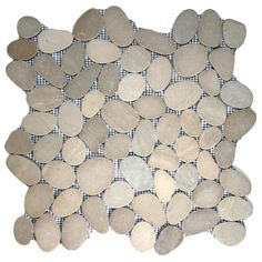 Sliced Java Tan Pebble Tile - rustic - Tile - Other Metro - Pebble Tile Shop