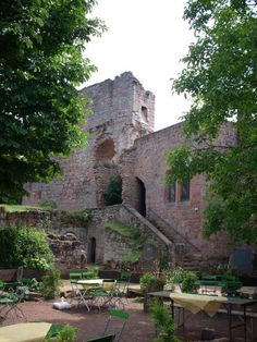 ruins of Burg Nanstein, Landstuhl Germany...had family fotos made here. Wonderful place--hosts music fests and other activities too! :D