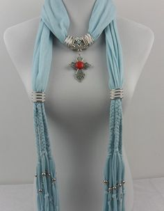 2013 Australia Red Gemstone Pendant Scarves for Women http://jewelryscarfcanada.com/