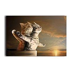 """Amazon.com: Funny Romantic Cat Poster - You Jump, I Jump Design Love Art Print Decorative Paper 20"""" x 30"""": Posters & Prints"""