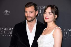Jamie Dornan  & Dakota Johnson    Fifty shades freed premiere in Paris