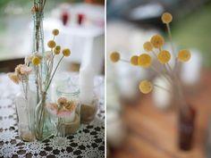 An Orange Wedding Dress: Kirsty + Matt : these flowers are so cute