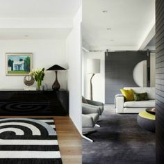 Modern masculine flair for inner Melbourne abode #interior design