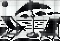 Lounge chairs and umbrella on the beach chart for cross stitch, knitting… Cross Stitch Sea, Cross Stitch Charts, Cross Stitch Patterns, Crochet Patterns Filet, Swedish Weaving Patterns, C2c, Beach Crochet, Lounge Chairs, Beach Chairs