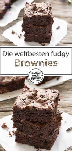 The perfect brownies recipe Baking makes you happy - recipes