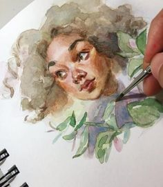 37 New ideas for drawing ideas watercolor artworks - Found drawings - Art And Illustration, Watercolor Illustration, Illustrations, Watercolor Artwork, Watercolor Portraits, Simple Watercolor, Gouache Painting, Kunst Inspo, Art Inspo