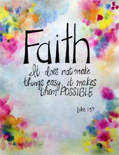 Faith Luke 1:37 Original Watercolor Painting by worDSMITHstudios