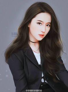 Digital Art Anime, Digital Art Girl, Chinese Drawings, Chinese Art, Cool Anime Girl, Anime Art Girl, Miami Art Deco, Female Drawing, Lovely Girl Image