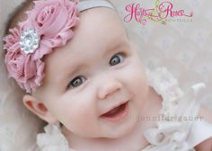 25 off 2DayVintage Pink Baby Headband.Pick your by HartsandRoses, $7.95