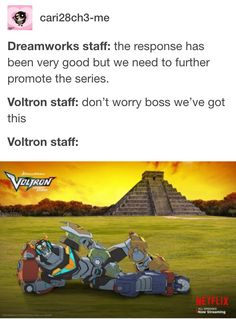 But do you know what this means? Technically they gotta be inside their lions when they've assembled voltron. They're inside the lions. My goodness.