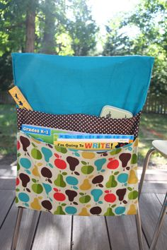 Chair Bags -- will have to remember this for when the kids start school