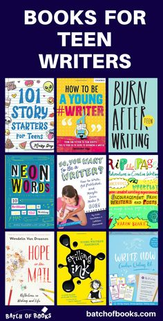 Awesome books and gifts for teen writers! Whether you're looking for how-to books on writing, journals, fiction writing practice, or fun gifts for teenagers that love to write, you'll find lots of ideas on this list. Encourage young and budding authors with books and products that will help them express themselves, improve their skills, and pursue a career in writing. | batchofbooks.com #teenlit #yalit #writing