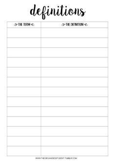 Free Printables! - The Organised Student's lovely chart// hope it can help me with french...