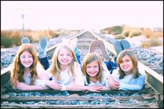 Children Photography {Love train tracks in pictures!}
