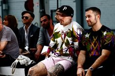 Men in Givenchy on the front row for Paris Fashion Week 2013