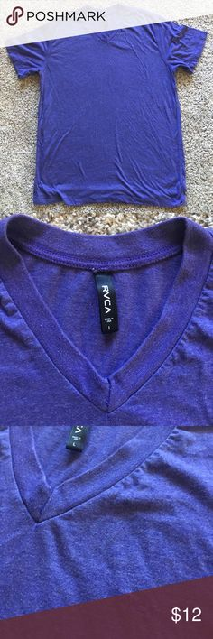 ✨SALE✨ RVCA V-Neck Awesome purple color! Zero flaws. Would look great under a flannel! Guys: women love it when you wear purple and pink. RVCA Shirts Tees - Short Sleeve