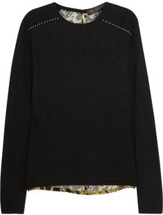 Versace Silk-back wool-blend sweater on shopstyle.com