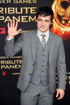 Josh Hutcherson at the Berlin premiere of The Hunger Games today.