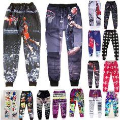 Mens Joggers 3D Basketball Star Printed Jogging Homme Actavis Baggy Sweatpants Men Jogger Pants Sports Men Emoji Joggers