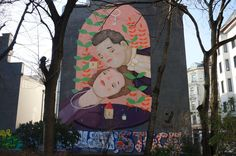 Parkfassaden-Kunst, Wien Neubau, Kaiserstraße Kaiser, Disney Characters, Fictional Characters, Aurora Sleeping Beauty, Disney Princess, New Construction, Art, Disney Princes, Disney Princesses