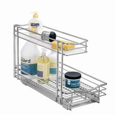 """Lynk Professional 11"""" x 21"""" Roll Out Under Sink Drawer in Chrome I totally need this!"""