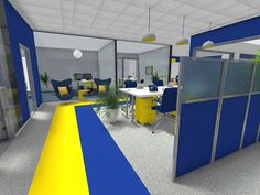 kenamp: Design of office Industrial Low Partition Office Layout In Office Snapshots Office Layout Roomsketcher Cool Office Space, Office Space Design, Modern Office Design, Office Furniture Design, Office Interior Design, Industrial Home Offices, Modern Home Offices, Small Home Offices, Home Layout Design