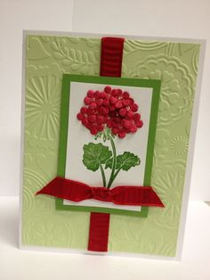 Home Made Cards Pinterest | Handmade card with paper flowers | Handmade Cards