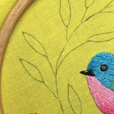 Do you love embroidery processes? . 🌸 Want to learn how to embroider?  Then my diy pdf embroidery patterns are waiting for you on Etsy.  Link in Bio. Hand Embroidery Patterns Flowers, Hand Embroidery Videos, Hand Embroidery Stitches, Silk Ribbon Embroidery, Hand Embroidery Designs, Embroidery Kits, Cross Stitch Embroidery, Christmas Embroidery, Instagram