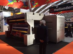 Hollanders DS-320 double-sided printer. Photo taken by Banner Box at FESPA Digital 2016 #fespadigital #fespa2016