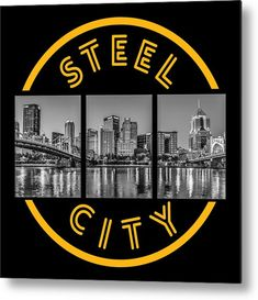 City Skyline Night, Beautiful Landscape Images, Travel Magazines, Ansel Adams, Night Photography, Metal Wall Art, Beautiful World, Color Show, Pittsburgh