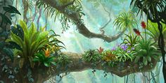 ✩ Check out this list of creative present ideas for coffee drinkers and lovers Fantasy Forest, Fantasy World, Fantasy Art, Forest Drawing, Forest Painting, Animation Background, Art Background, Fantasy Landscape, Landscape Art
