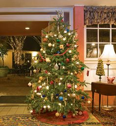 "A traditional #Christmas at Presidents' Quarters Inn, voted ""Best Savannah Inn"" by Savannah Magazine readers since 2008. 