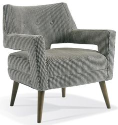 This unique, contemporary lounge chair is the perfect accent chair for any room! http://louisjsolomon.com/product/chr-7914/…