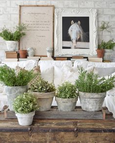 DIY Farmhouse Flower Pots Joanna Gaines Would Love! - The Cottage Market Decor, French Country House, Farm House Living Room, Farmhouse Flower Pots, Cottage Style, French Country Decorating, Farmhouse Decor, Country Decor, Painted Pots