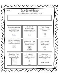 1000 images about teaching grammar and spelling on for Tic tac toe menu template