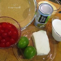 Cherry Limeade Ice Box Pie