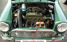 Austin Cooper S Engine number location Mini Morris, Monte Carlo Rally, Mini Clubman, Unique Cars, S Car, Mini Cooper S, Mini S, Latest Cars, Classic Mini
