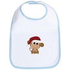 Santa Monkey Bib on CafePress.com