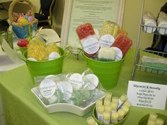 Cute Soap Displays!! Clean and Refreshing