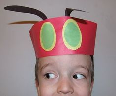 Very Hungry Caterpillar hat that older preschoolers can assemble... with a little help.