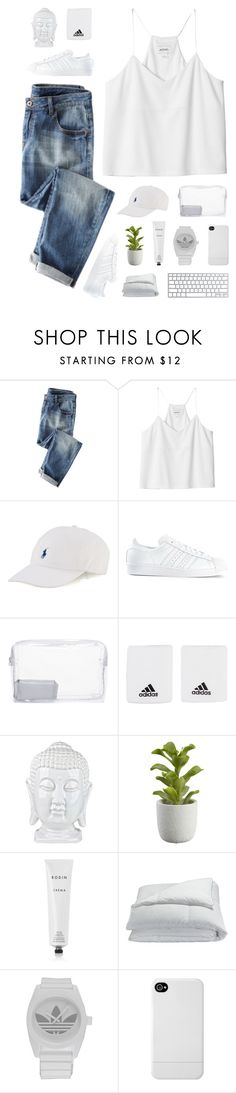 """""""Falling Into Your Embrace"""" by nauditaolivia ❤ liked on Polyvore featuring Monki, Polo Ralph Lauren, adidas, Topshop, Crate and Barrel, Rodin, Frette and Incase"""